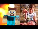 Minecraft chicken Как добыть курицу, уголь и еду в майнкрафт. Адриан и Стив готовят ужин