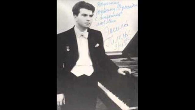 Emil Gilels plays Paganini-Liszt Etude in E major No. 5 La caccia