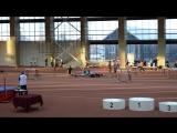 финал бега на 200 метров среди девушек 1999-2000 г.р. на открытом первенстве Тюменской области в Тюмени 20.12.2015 г.
