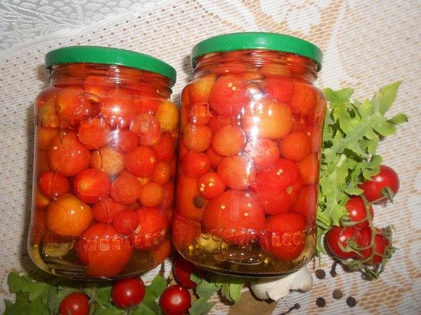 Как мариновать помидоры черри с