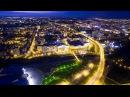 Ночной Белгород с высоты птичьего полета Belgorod night bird's eye view