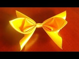 Желтый бант заколка из ленты (yellow bow-clip of tape)