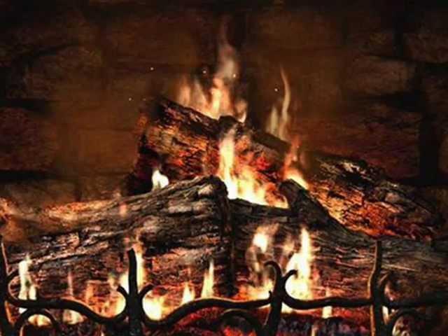 искры во камине горят во вкусе рубины