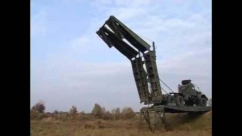 Инженерная техника. ТММ-3 в действии. Тяжелый механизированный мост.
