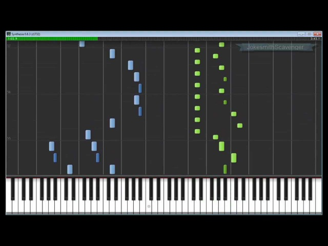 Castlevania - Bloody Tears (hard version) Piano Synthesia