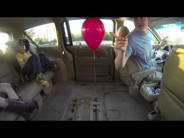 Шарик в автомобиле