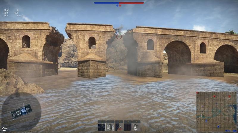 War Thunder на новои карте Тунис мост починенный можно сломать