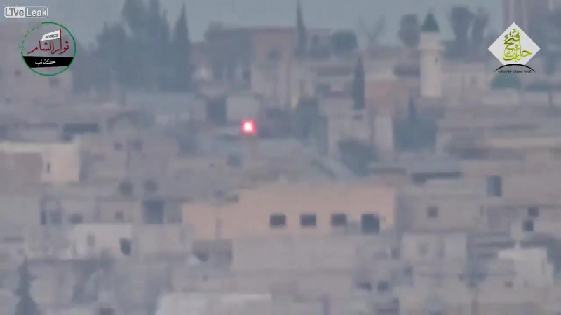 Nice video of a possible hizbollah fighter (yellow flag to the right side of the car) dodging a TOW