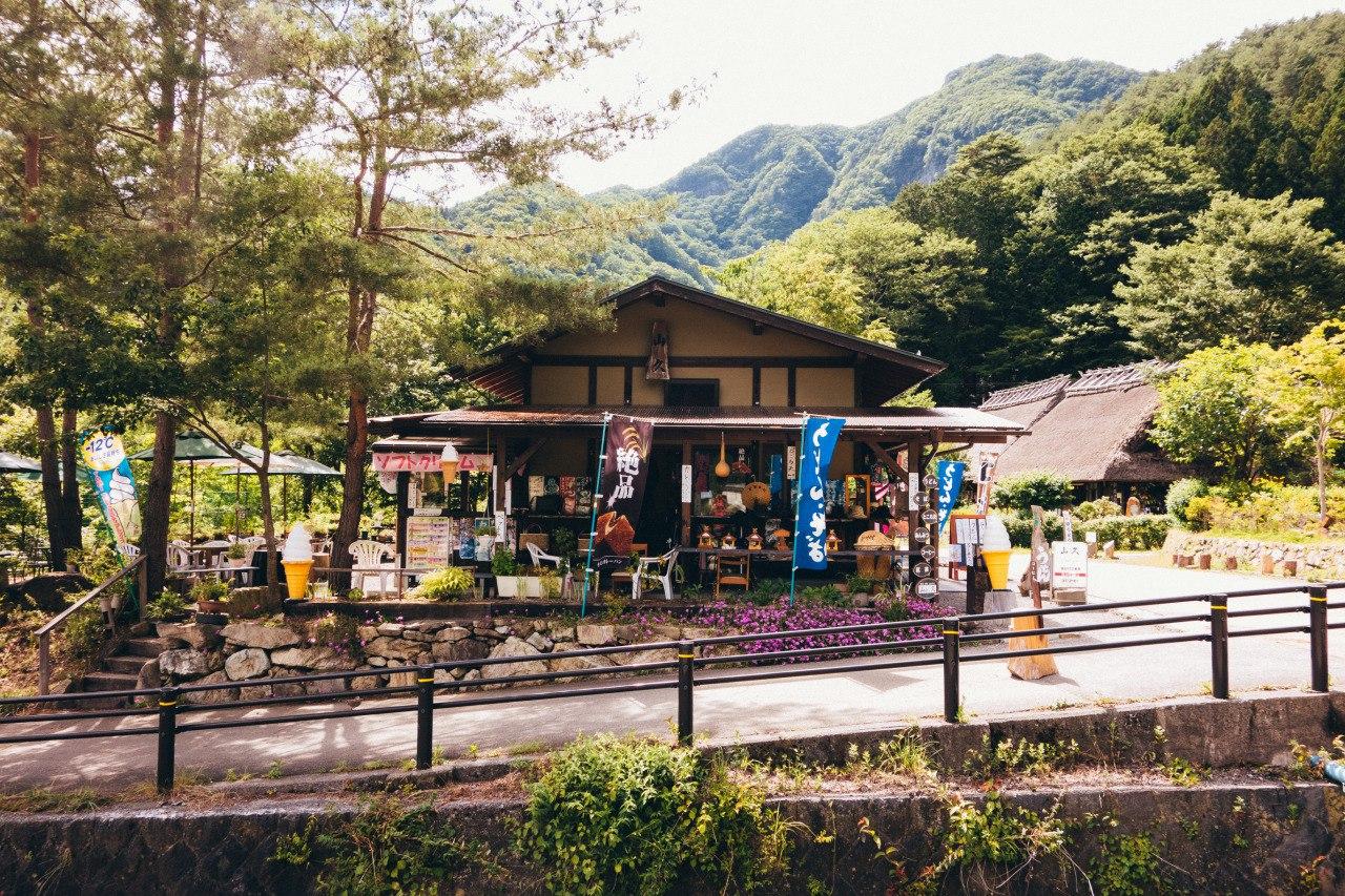 Уютный ресторанчик в горах Японии