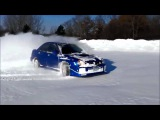 Subaru Impreza WRX STI snow drift winter 2014