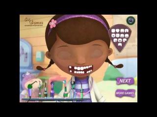 Doc McStuffins Игра—Доктор Плюшева у Стоматолога—Мультик Онлайн Видео Игра Для Детей 2015
