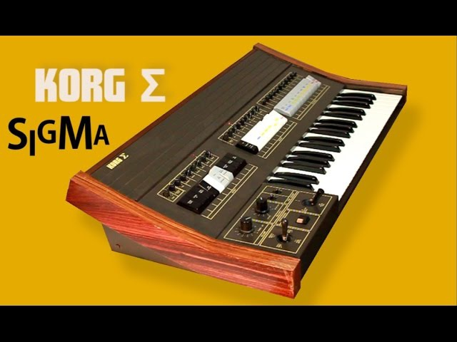 KORG SIGMA Analog Synthesizer 1979 | HD DEMO