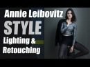Annie Leibovitz Style Lighting Technique Retouching Tips using StyleMyPic Pro Workflow Panel