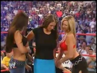Stephanie McMahon - Hot Lesbian Action - Unforgiven 2002