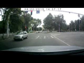 Проезд на красный сигнал светофора в Измаиле