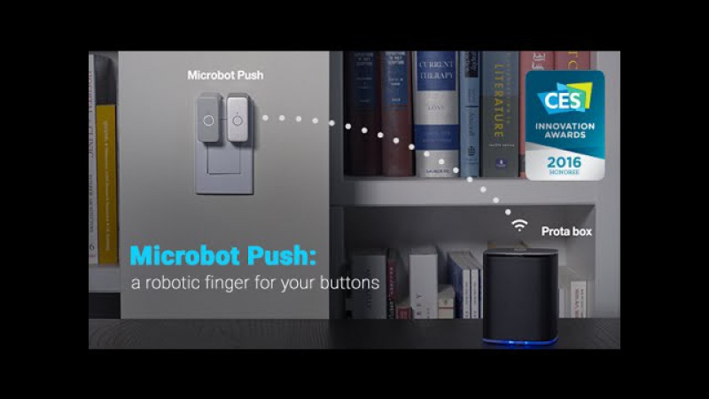 Microbot Push: a robotic finger for your buttons