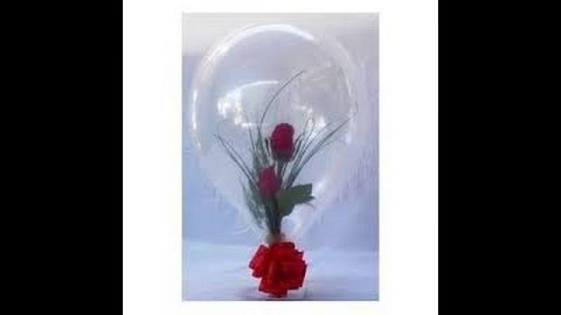 Flores dentro de un globo dulces dentro de un globo. Haga negocio