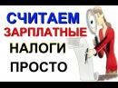 Как посчитать ЗАРПЛАТНЫЕ налоги и взносы ПФ ФСС ФФОМС НДФЛ