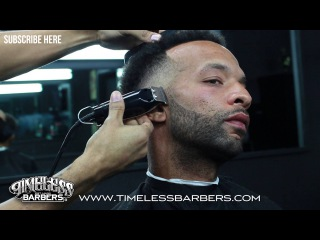 HOW TO DO A SKIN FADE | WITH CRISP BEARD TRIM |  BY CHUKA TORRES | WWW.TIMELESSBARBERS.COM