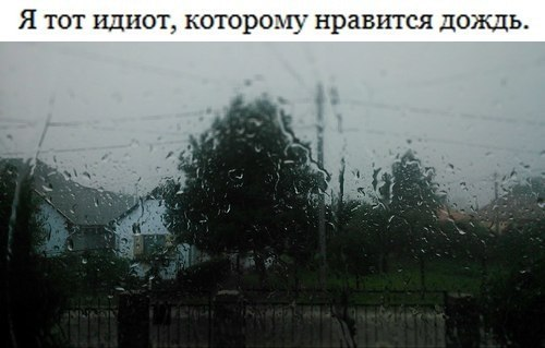 а я дождь люблю. анон