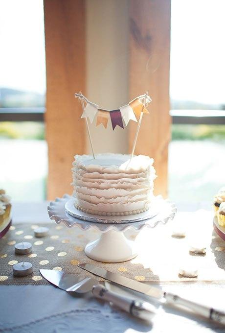 4BW4NBtIzOs - 36 Красивейших одноуровневых свадебных тортов