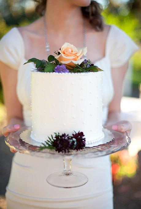 wPlheq2gvmw - 36 Красивейших одноуровневых свадебных тортов