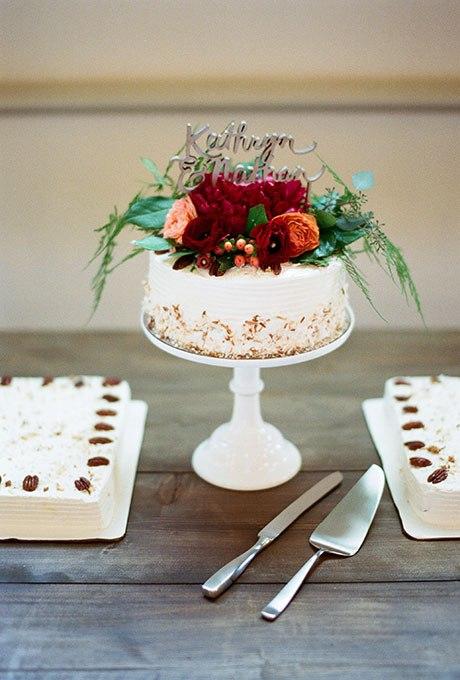 ISMhqv47Y6o - 36 Красивейших одноуровневых свадебных тортов
