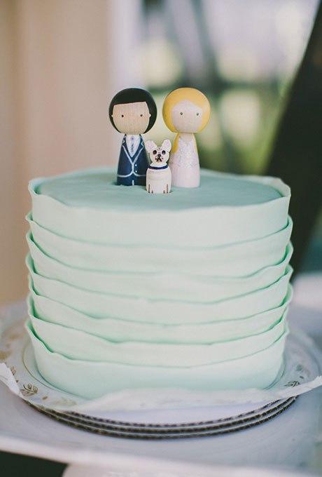 Zv9Rt7NDusY - 36 Красивейших одноуровневых свадебных тортов