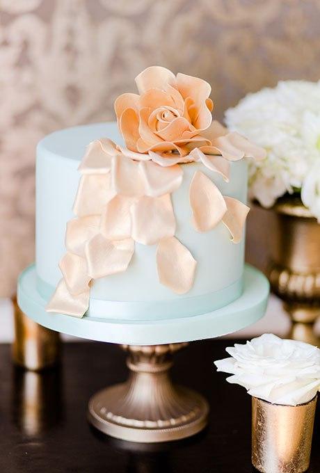 9Hxu1IQm95g - 36 Красивейших одноуровневых свадебных тортов