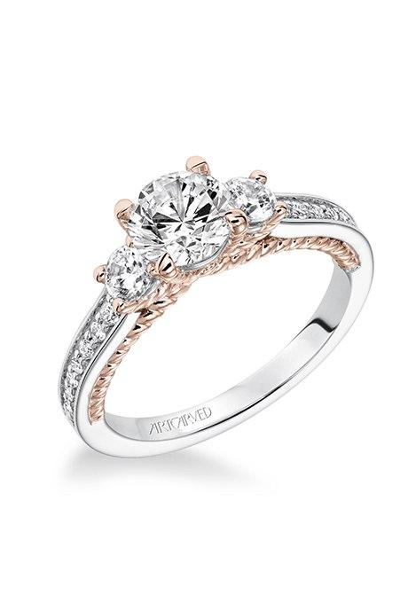 N2e2WG9ab0A - Обручальные кольца с тремя камнями (63 фото)
