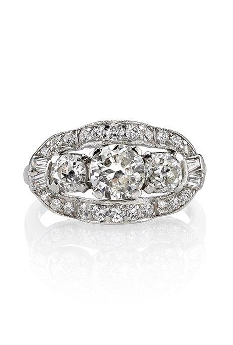 yMMF3 6X9EM - Обручальные кольца с тремя камнями (63 фото)