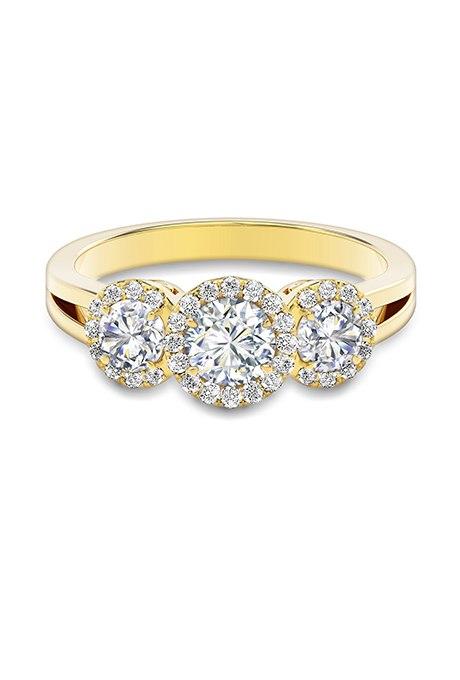 u0vhboOVpZc - Обручальные кольца с тремя камнями (63 фото)