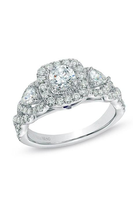 cSL4v DsFRY - Обручальные кольца с тремя камнями (63 фото)