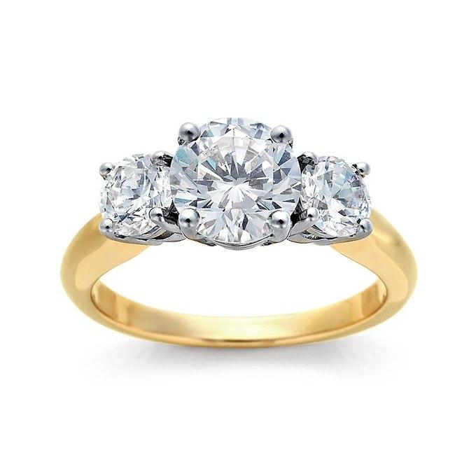 nUoMILB PJA - Обручальные кольца с тремя камнями (63 фото)