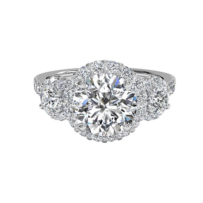 1HFkG 6QiPs - Обручальные кольца с тремя камнями (63 фото)