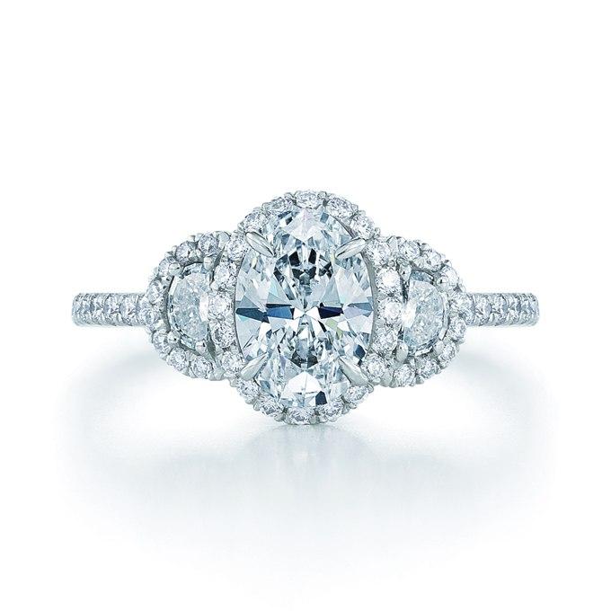 p2niq4ADd Q - Обручальные кольца с тремя камнями (63 фото)