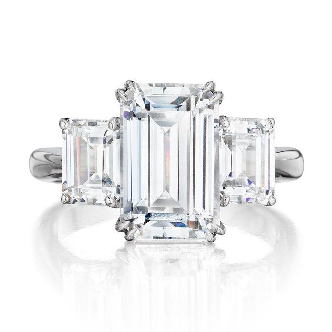 g wGjZKYKl0 - Обручальные кольца с тремя камнями (63 фото)