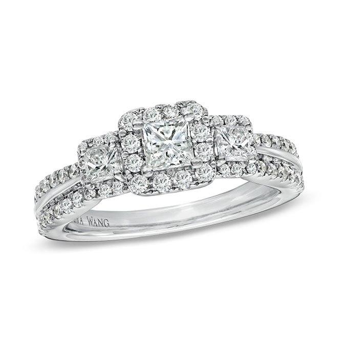 8BONIzGfXq0 - Обручальные кольца с тремя камнями (63 фото)