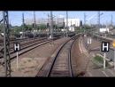 Fuhrerstandsmitfahrt durch den Bahnhof Halle wahrend des Umabaus auf ESTW