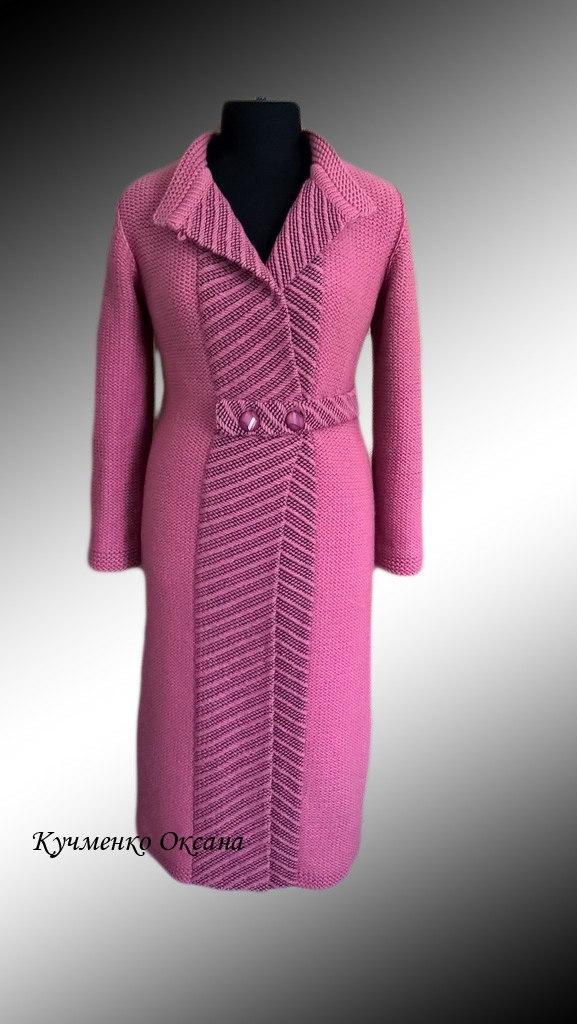 Вязание пальто на заказ