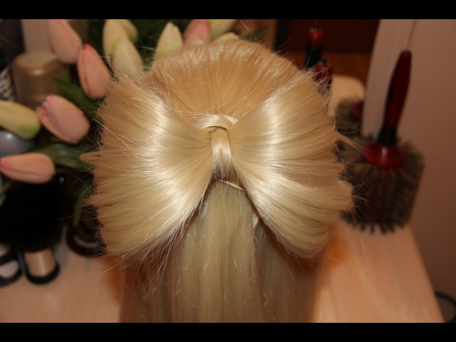 Бантик из волос   Hair bow