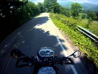 Riding Motorcycle Through Curves with No Hands