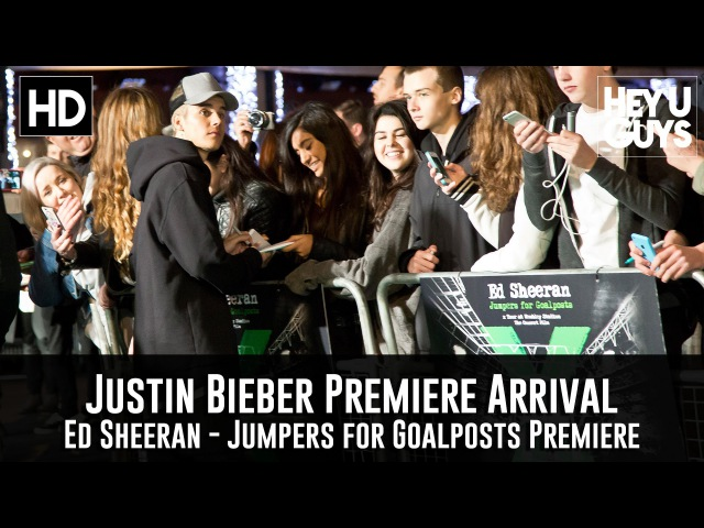 Justin Bieber Arrives at the Ed Sheeran Premiere (Jumpers for Goalposts)