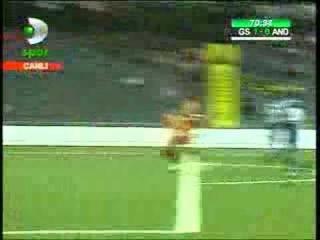 Sabri Sarıoğlu Gol Galatasaray 1 - 0 Anderlecht