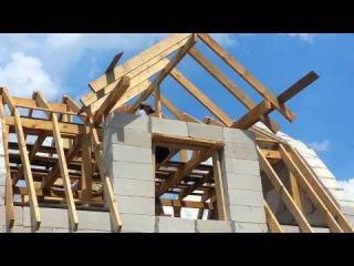 Баня 6х5 из газобетона Bonolit День15 Кладка последнего блока Оплата строителям Крыша