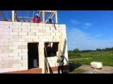 Баня 6х5 из газобетона Bonolit День11 Строим мансарду