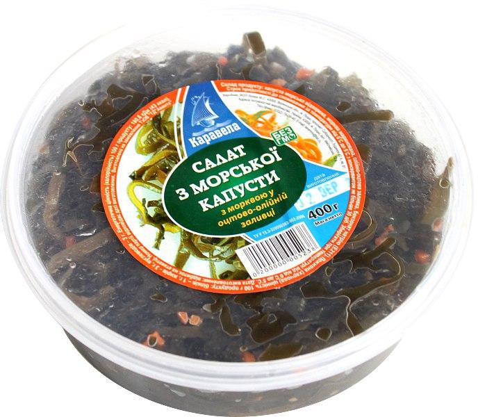 Салат з морської капусти, Каравела, 400г