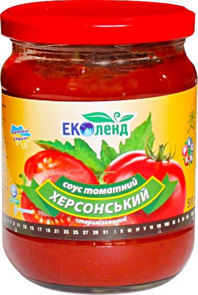 Соус томатний Херсонський, Еколенд, 480 г