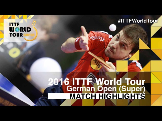 German Open 2016 Highlights BOLL Timo vs KOJIC Frane R32