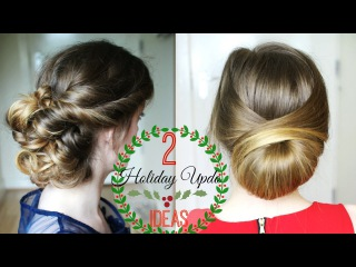 Two Simple Holiday Updo Ideas | Christmas Ideas |  Braidsandstyles12
